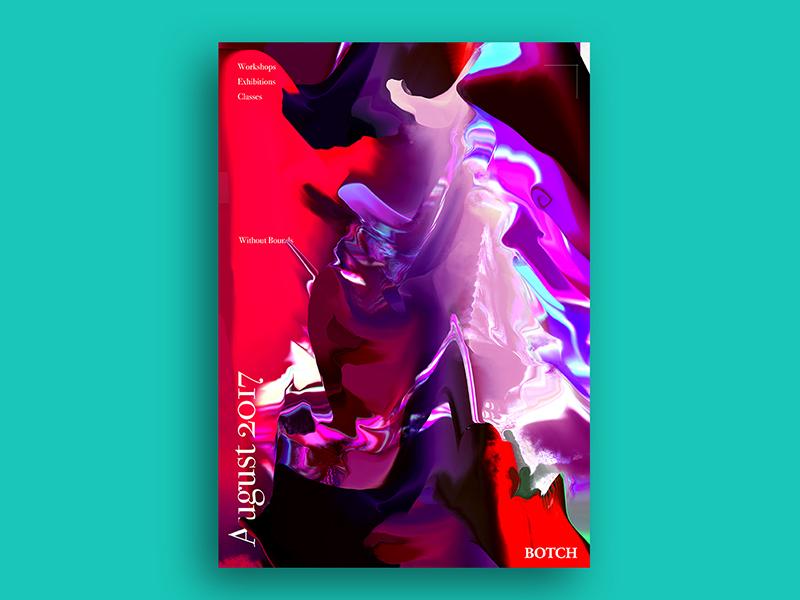 BOTCH Poster Design capener jacob botch mess cinema4d c4d colourful paint edinburgh design poster