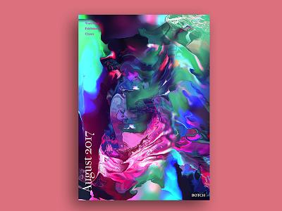BOTCH Poster Design | 2 capener edinburgh colourful colour type 2017 chaos paint poster design