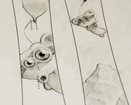 Snowboard illustration sketch