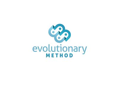 Evolutionary Method Logo combination mark dimensional steps process financial evolution logo brand