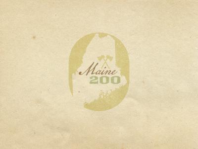 Maine Bicentennial Logo bicentennial logo vintage state maine