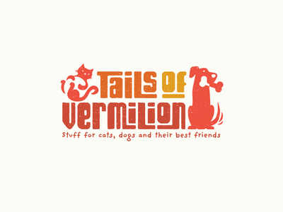 Tails of Vermilion store bone toys retail pet cat dog design brand logo