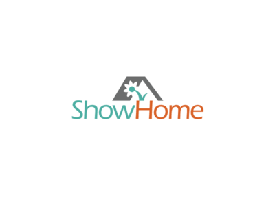 ShowHome | Home Staging staging roof flower home house brand logo