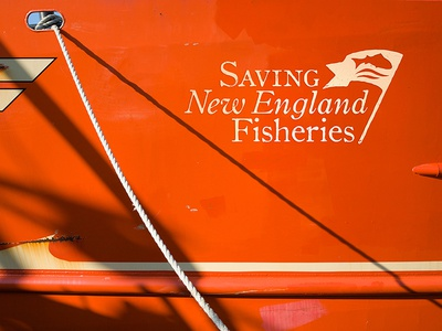 NHPT Documentary Logo new england boat action ocean flag fishing orange logo brand