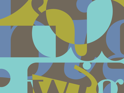 Bigwig background logo blue deconstructivist type abstract