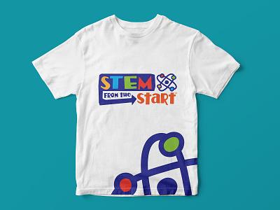STEM from the START t-shirt technology atom science kids brand logo t-shirt