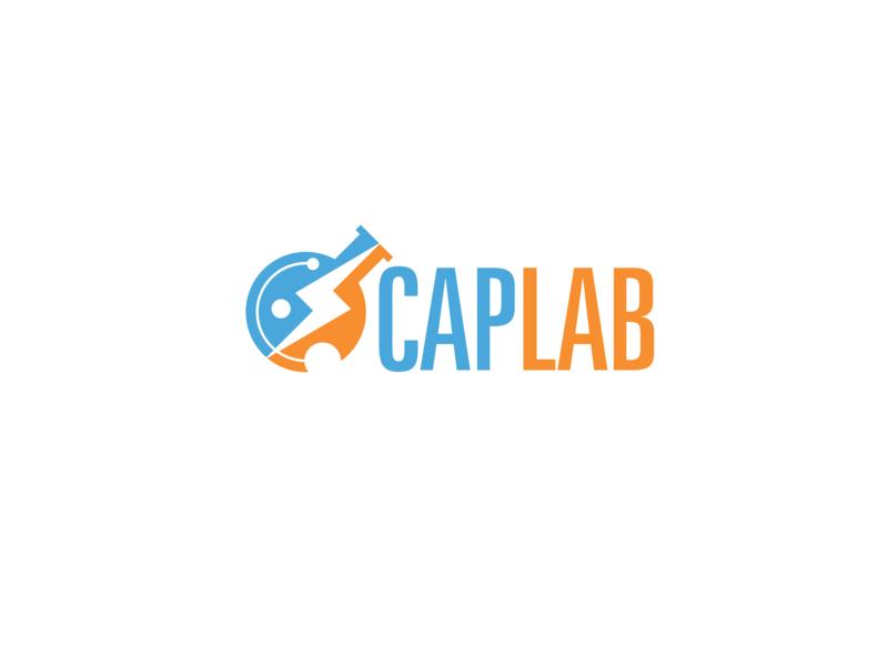 CAPLAB logo motion energy lab beaker vfx brand logo