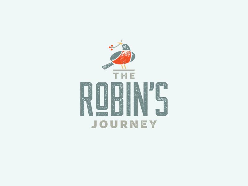The Robin's Journey Logo wellness transformation sun robin logo hope health brand bird