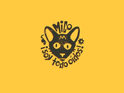 Mico el mono mouse brand ears monkey spanish grunge kitty cat logo