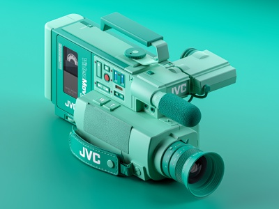 JVC GR-C1 (Back to the Future) bttf back to the future backtothefuture hard surface modeling blender3dart blender 3d 3d modeling camcorder