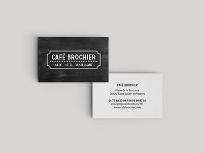 Café Brochier branding