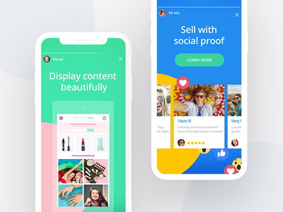 Happy Customers Landing Page #2 yotpo ugc stories social page mobile landing branding