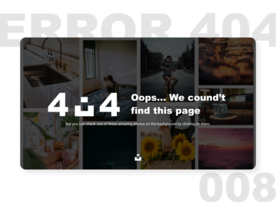 404 page ui ux dailyui