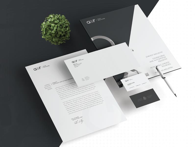 G&F energy - corporate identity corporate identity graphic design webdesign