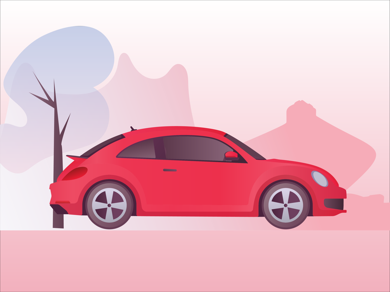 Simple car illustration graphic design illustrations