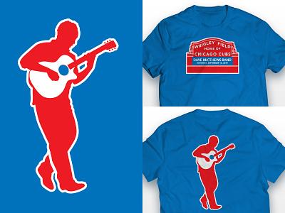 Dave Matthews Band T-Shirt matthews dave shirt chicago cubs blue clean simple field wrigley guitar t-shirt
