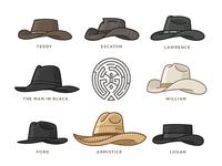 Westworld Cowboy Hats - Icon Set