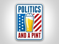 Politics And A Pint Logo