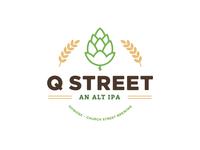 Q Street Beer - Concept Logo #1