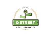 Q Street Beer - Concept Logo #2