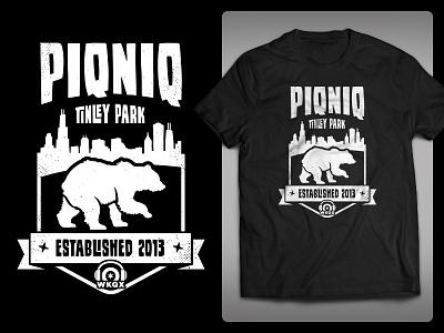 PIQNIQ 2018 T-shirt Design simple texture black tower sears skyline illinois radio chicago bear shirt t-shirt