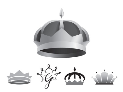 Crown Mark Exploration queen king royalty icon clean nobalty simple grayscale identity logo mark crown