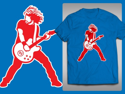 Foo Fighters @ Wrigley Field 2018 Tshirt (Concept) concert red blue cubs wrigley music rock chicago guitar dave grohl foo fighters tshirt