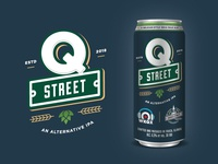 Q Street Beer - Logo & Label