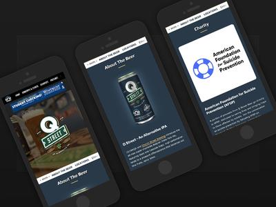 Q Street Beer - Website (on mobile)