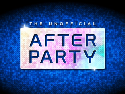 The Unofficial After Party - Identity shimmer typography blue texture music night club sparkle party logotype logo identity