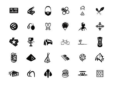 Logo Collection 1 - 2017 surface pro microsoft windows serif affinity designer illustrator graphic thick line monochrome branding design logo logos