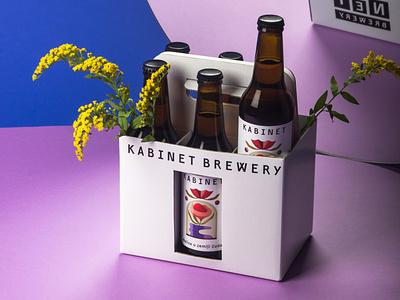 Label Illustration for Kabinet Brewery collage alice in wonderland melisa kabinet brewery beer label design flowers illustration
