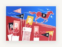 Illustration on Bitcoin betting