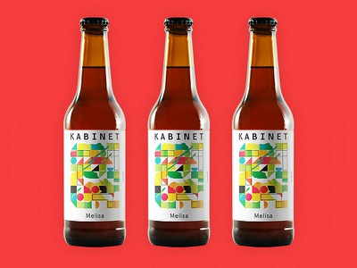 Illustration for Kabinet Brewery mosaic pattern floral illustration craft beer beer label beer