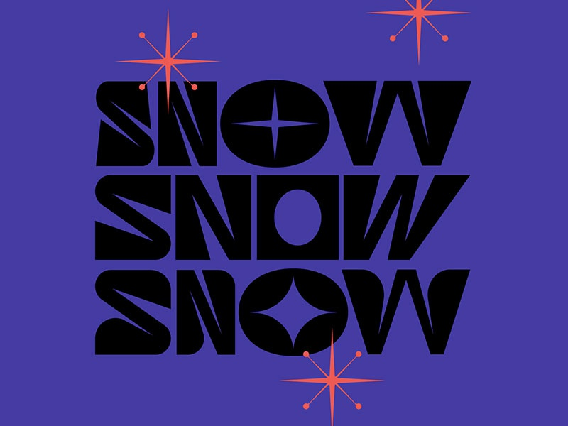 Snow - Type Experiment snow flake slowflake weird letters experiment typography type snow