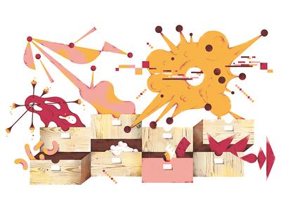 Illustration about cataloging viruses