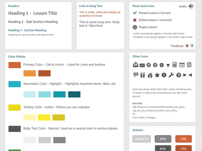UI Style Guide style guide