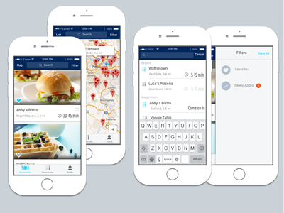 Restaurant discovery app search filter map discovery mobile app restaurant