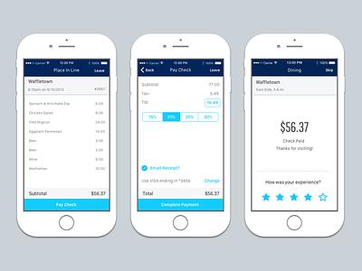 Restaurant payment app payment rating bill mobile app pay restaurant