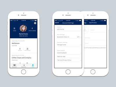 Profile mobile app mobile app settings profile