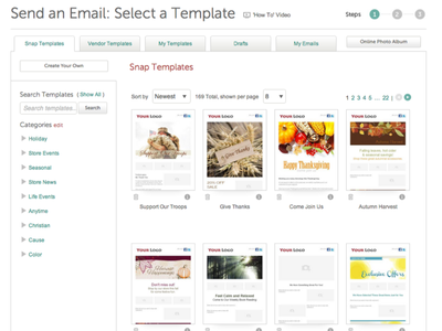 Email Template Discovery filter search website emails templates discovery