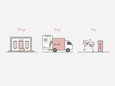 WineSociety Process Icons