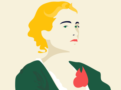 Portrait of a Lady on Fire affinity ipad affinity designer made in affinity portrait of a lady on fire vector illustration vector design