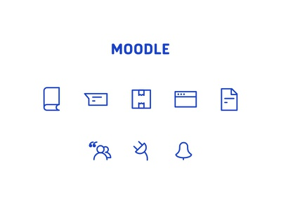 Moodle redesign concept - Some icons moodle template moodle icons web app logo brand