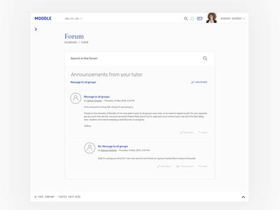Moodle theme - forum web theme template moodle app