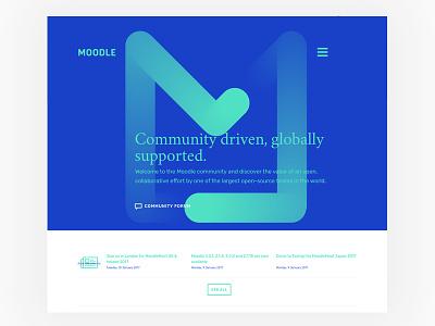 Moodle redesign concept - web web design moodle template moodle logo brands brand app