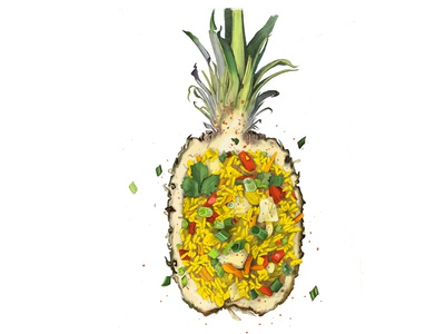 Pineapple foodart food digital painting food illustration digitalart painting drawing art illustration design