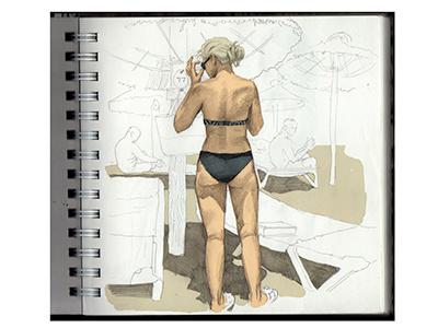 Sketch Pljag Illustracija Summer illustration anatomy human sketch