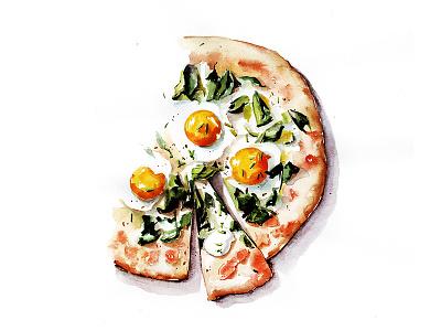 Pizza pizza botanical illustration food