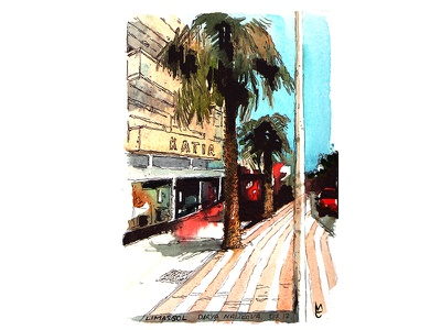 Watercolor Illustration Limassol 2017 illustration nature art watercolour
